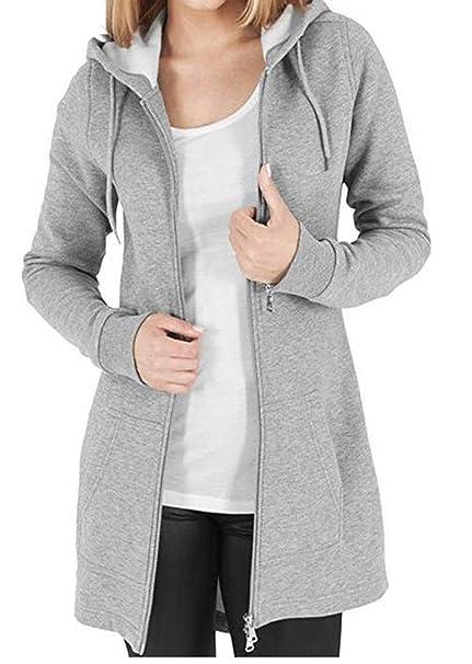 hot sale online 532a5 75fa6 Kidsform Damen Hoodie Langarm Pullover Kapuzenpulli Outwear Kapuzenjacke  Sweatshirt Jacken Herbst Winter