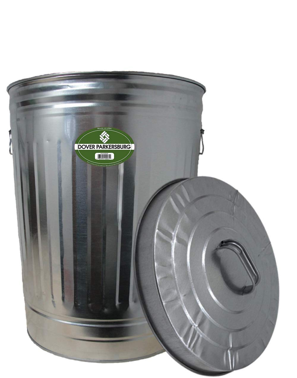 Dover Parkersburg DP1211K Steel Can, 20-Gallon Silver