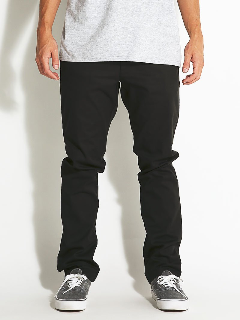 RVCA Men's The Weekend Stretch Chino Pant, Black, 34