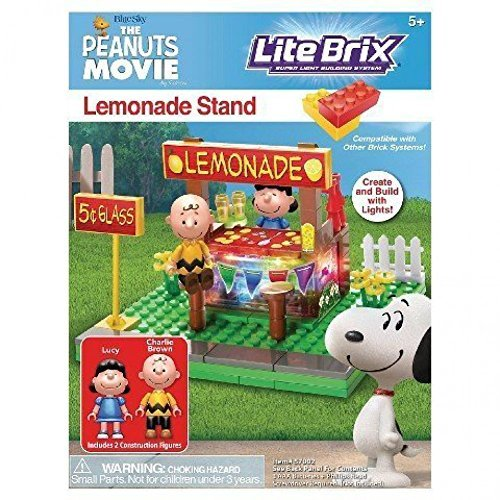 Lite Brix The Peanuts Movie Lemonade Stand Building (Lemonade Set)