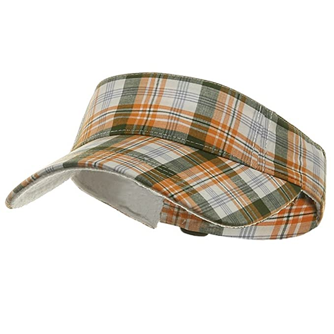Pro Style Plaid Visor - Gold at Amazon Men s Clothing store  d22454f7bd3