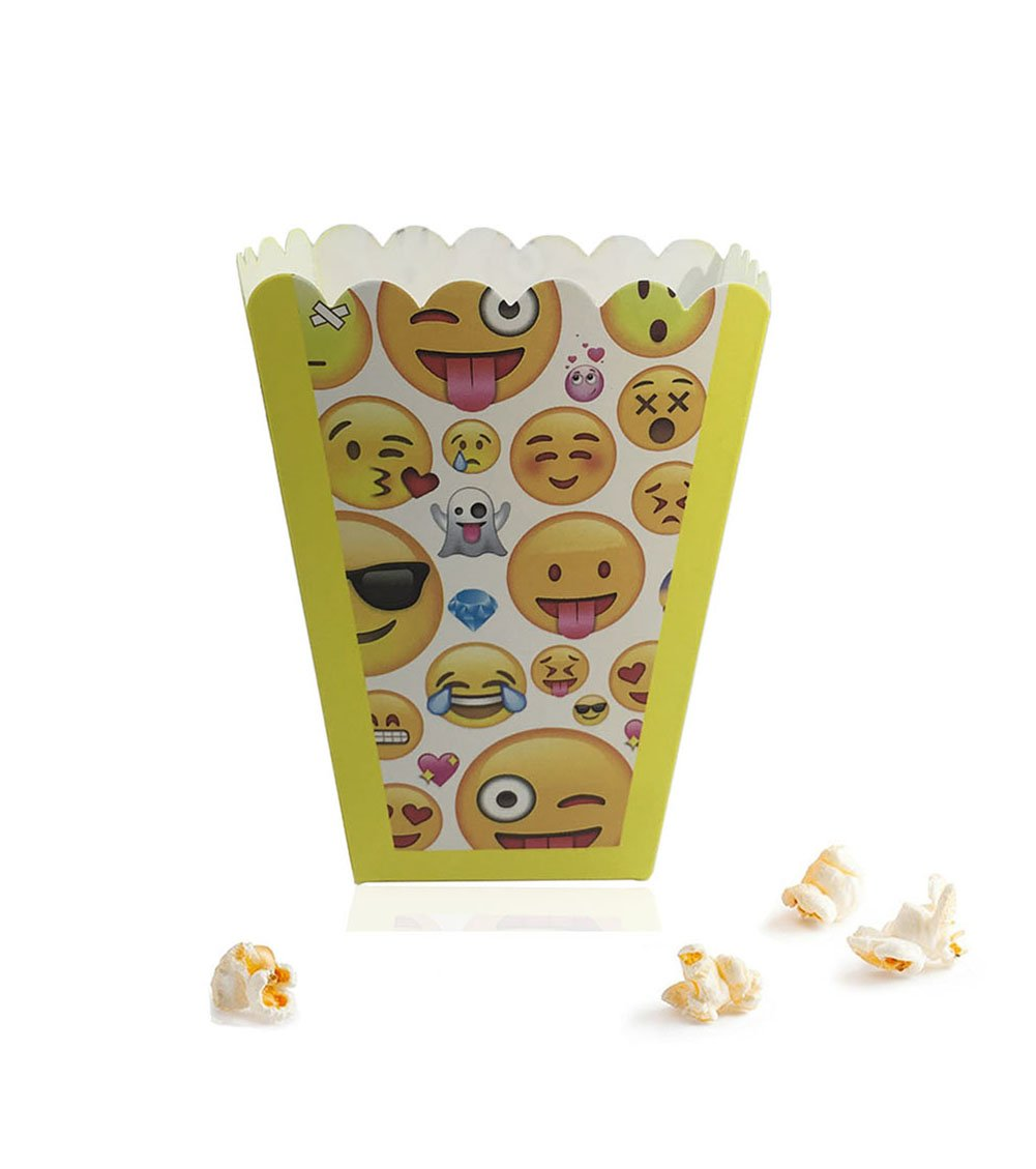 Paper Popcorn Fries Boxes (30 Pack) 3'' X 3'' X 4'' For Movie Party