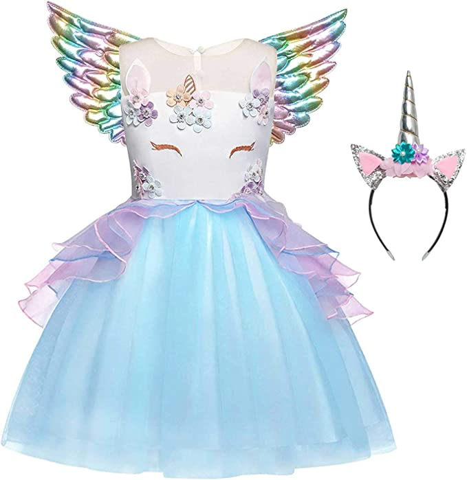 Amazon.com: QPANCY - Vestidos de unicornio para niñas: Clothing