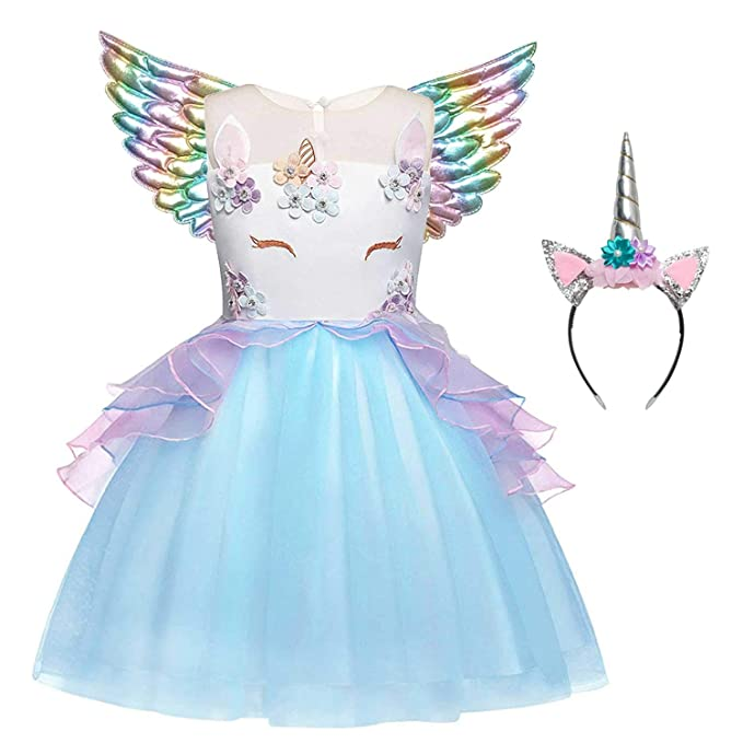 Amazon.com: QPANCY - Vestidos de unicornio para niñas: Clothing