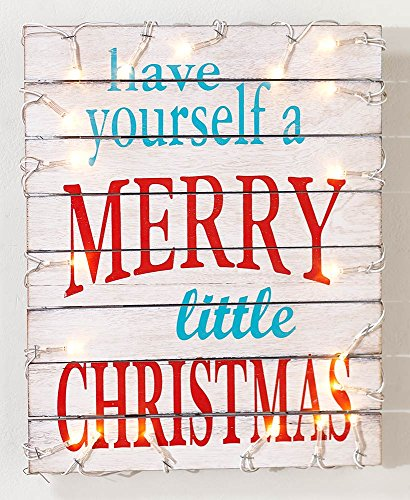 Lighted Christmas Sign - The Lakeside Collection Merry Little Christmas Lighted Holiday Pallet Signs -