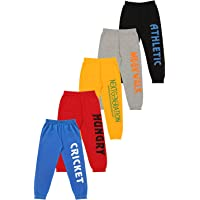 KYDA KIDS 100% Cotton Kids Printed Track Pant for Boys & Girls - Loose Fit Lower for Unisex, Multicolor - Pack of 5