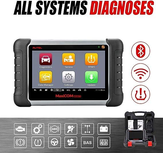 Autel Maxicom Mk808ts Multibrand Android Scanner Für Diagnose Und Reset Öl Bremsen Akku Lenkwinkel Diesel Partikelfilter Und Schlüsselcodierung Mit Vollem Reifendruck Service Tpms Auto