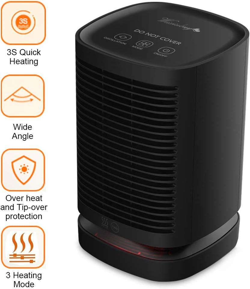 2 in1 950W Electric Space Fan Heater