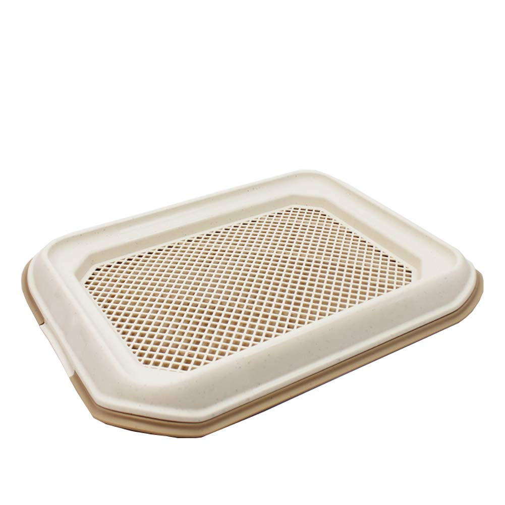 Brown Dog Toilet, Pet Supplies Grid Dog Potty, Puppy Cat Pet Training Mat Potty, Easy to Clean and Hygienic,Sterile,Tasteless and Corrosion Resistant