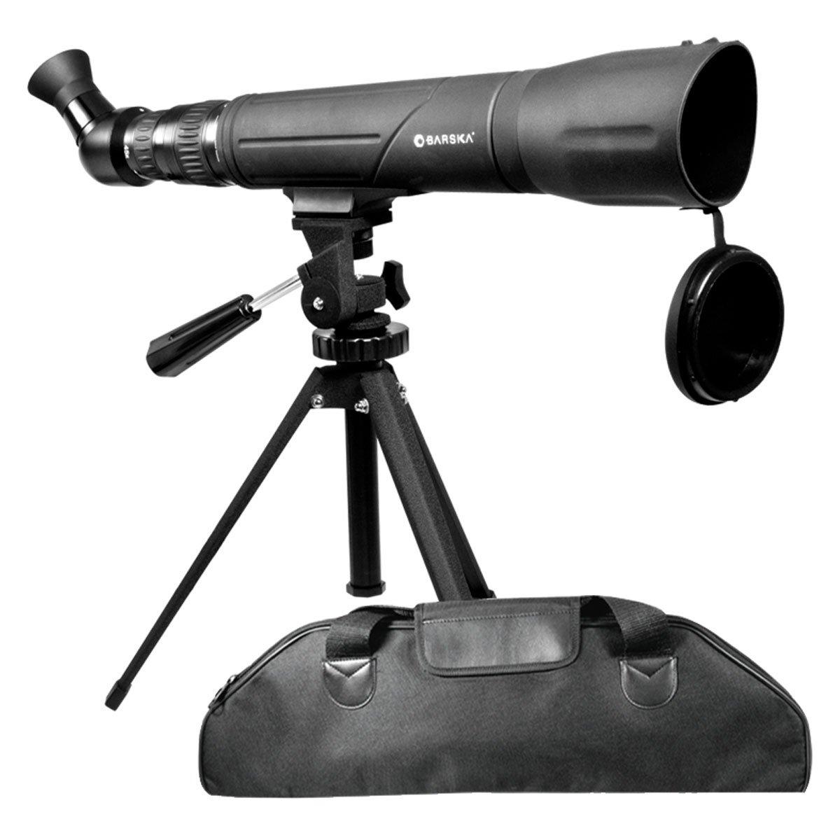 BARSKA 20-60x60 Spotter SV Angled & Rotatable Spotting Scope w/ Tripod & Soft Case by BARSKA