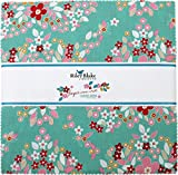 Studio T Green Forget Me Not 10'' Stacker 42 10-inch Squares Layer Cake Riley Blake 10-6300-42