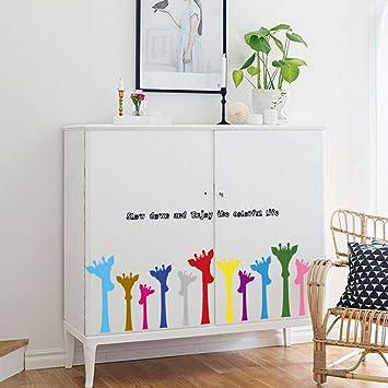 Fenleo Wall Stickers Giraffe Decor Mural Decals For Kids Rooms Bedroom Bathroom Living Room Kitchen
