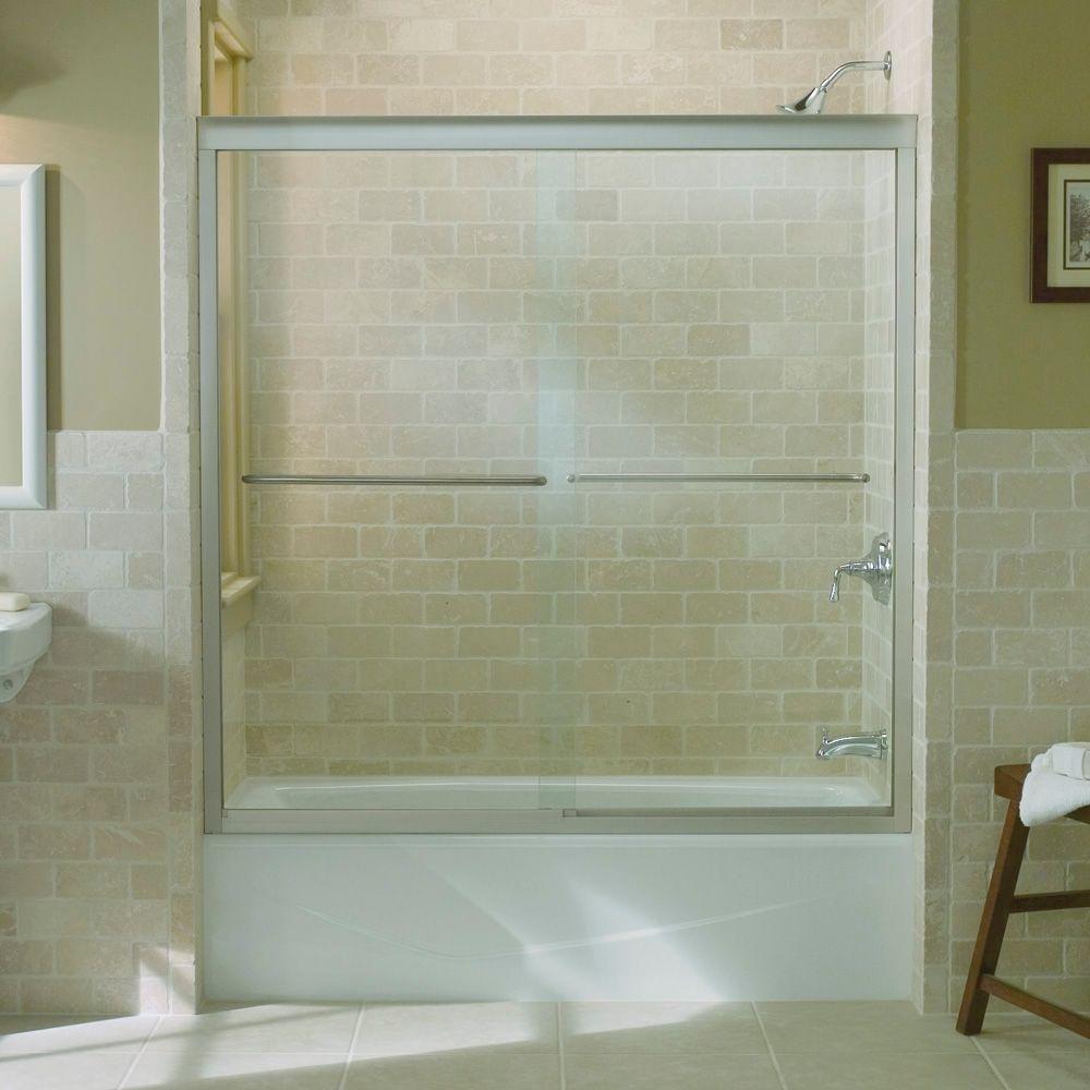 Kohler 702200 L Mx Fluence Sliding Bath Door With Thick Crystal
