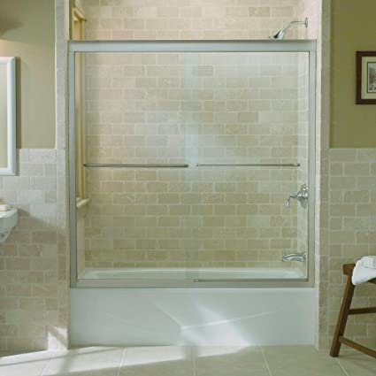 Delightful Kohler 702200 L MX Fluence Sliding Bath Door With Thick Crystal Clear Glass
