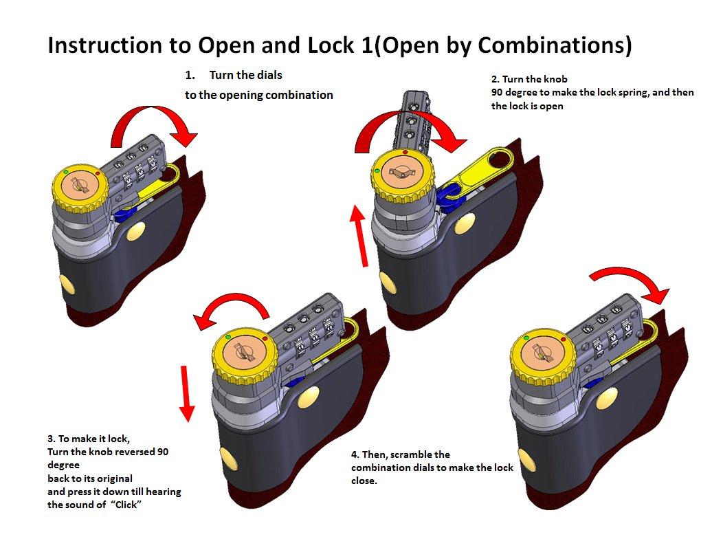 Locking Courier Bag 1000 Denier Nylon Combination Lock Black by Cardinal Bag Supplies (Image #1)