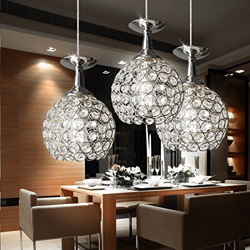 FixtureDisplays Modern Chandelier Ceiling Pendant Lighting with 3 Lights for Restaurant Bar Kitchen Island Dining Room 15853-2NEW-NPF by FixtureDisplays