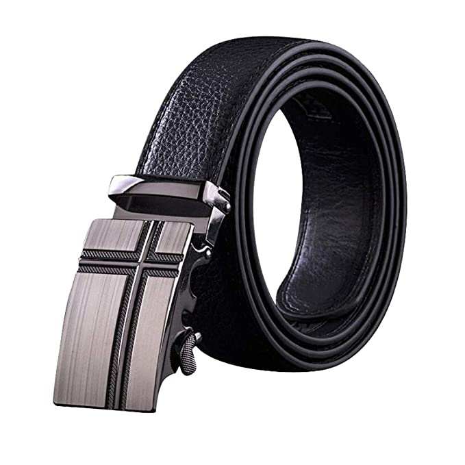 Mens Belt,West Leathers Slide Ratchet Belt for Men with Top Grain Leather,Trim to Fit