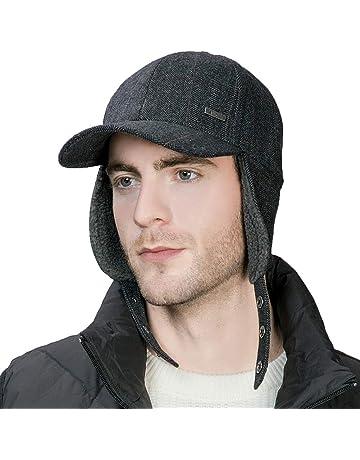 23cc302d7dfee Wool Cotton Washed Baseball Cap Earflap Elmer Fudd Hat All Season Fashion  Unisex 56