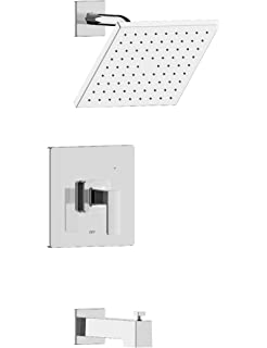 Fontaine by Italia Pont Neuf MFF-PNS-BN Single Handle Shower Trim Set with Round Rain Can Shower Head and Rough-in Valve in Brushed Nickel