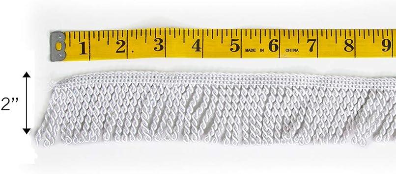 Vispronet Decorative Flag Fringe Gold Fringe 2 Yards of 2in Chainette Fringe Made with 100/% Rayon Material
