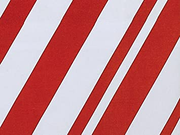 Amazon.com: Candy Cane Peppermint Stripe Christmas Gift Wrap ...