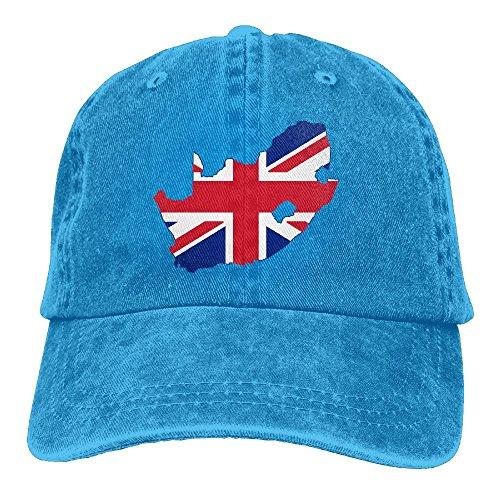 South Africa United Kingdom Flag&Map Denim Hat Adjustable Surf Baseball - Site South Africa