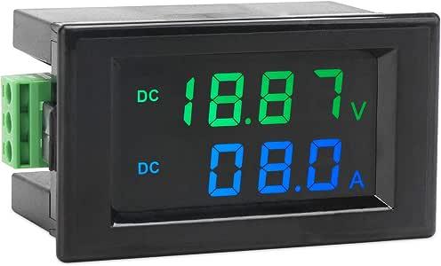 Volt Amp Meter, DROK Digital Voltmeter Ammeter Multimeter DC 0-200V (199.9V) 10A Voltage Current Multi Tester, LCD Dual Display Battery Volts Amperage Monitor Gauge Panel