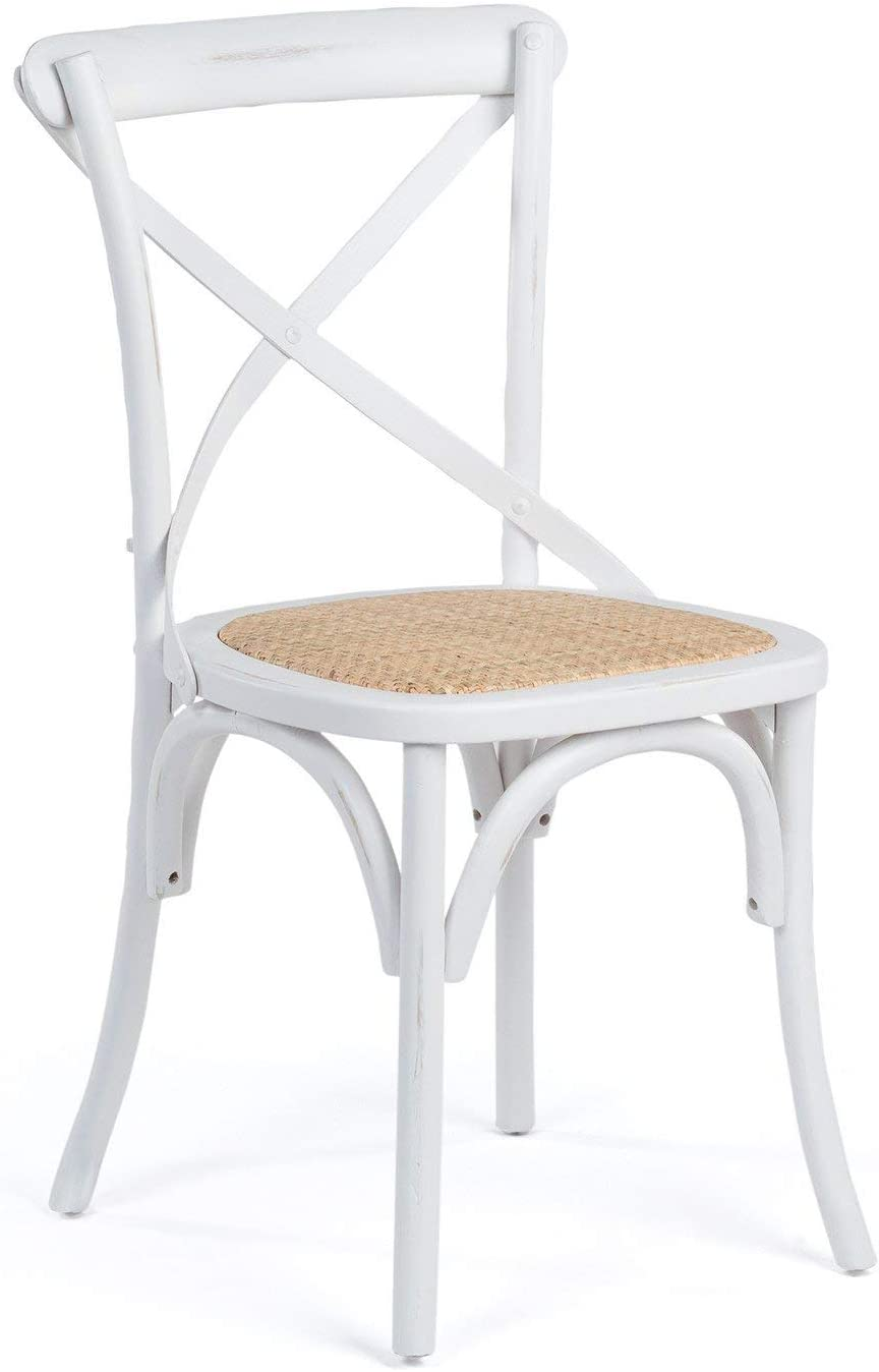 SKLUM Silla Otax Vintage Madera Cepillado Blanco - (Elige Color)