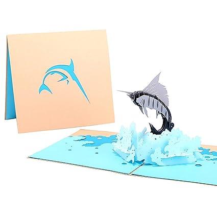 Ballylelly 3D hacen estallar la pez vela Tarjetas de ...
