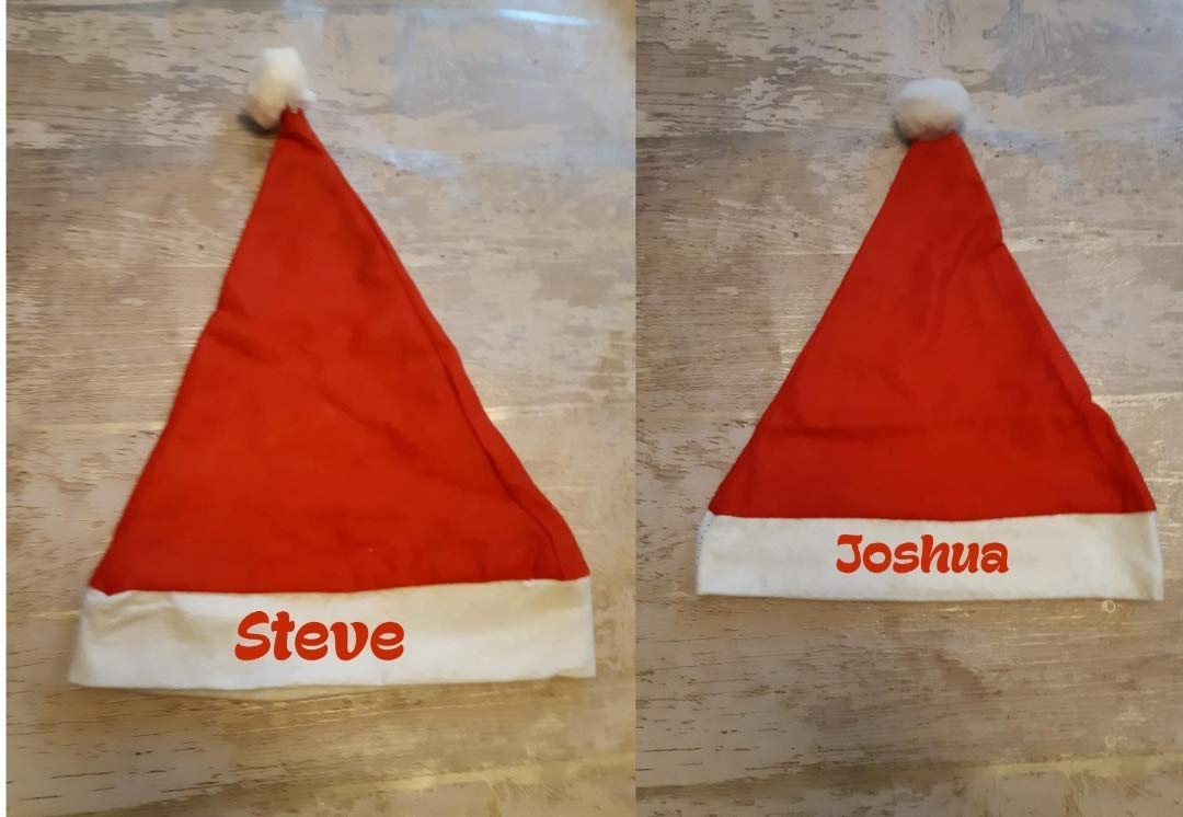 FANCY DRESS OFFICE PARTY PERSONALISED ADULT SANTA CHRISTMAS  HAT