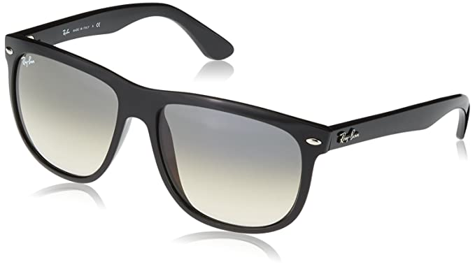 6ffc9458a Ray-Ban - Lunette de soleil Rb4147 Rectangulaire - Homme, Black frame/ Grey