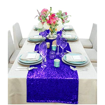 Wholesale Wedding Table Runners 30Th Birthday Decorations Sequin Tablecloth 1027S 14x132 Inch