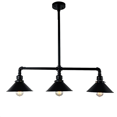 UNITARY BRAND Black Antique Rustic Metal Shade Hanging Ceiling ...