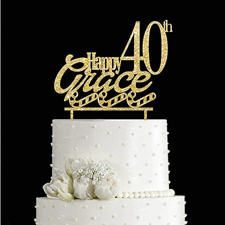 Kiskistonite - Decoración para tarta de 40 cumpleaños ...
