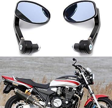 "Universal Motorcycle 7//8/"" 1/"" Handlebar Bar End Rétroviseur Mirrors Chrome"