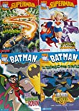 set of 4 super dc heroes books superman the stolen superpowers last son of krypton batman five riddles for robin fun house of evil super dc heroes
