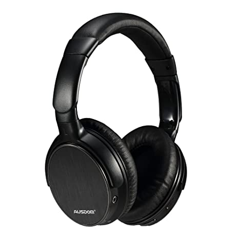45dbb298ad5 AUSDOM Wireless Bluetooth EDR Over Ear Headphones Lightweight Stereo Deep  Bass with Microphone and Volume Control