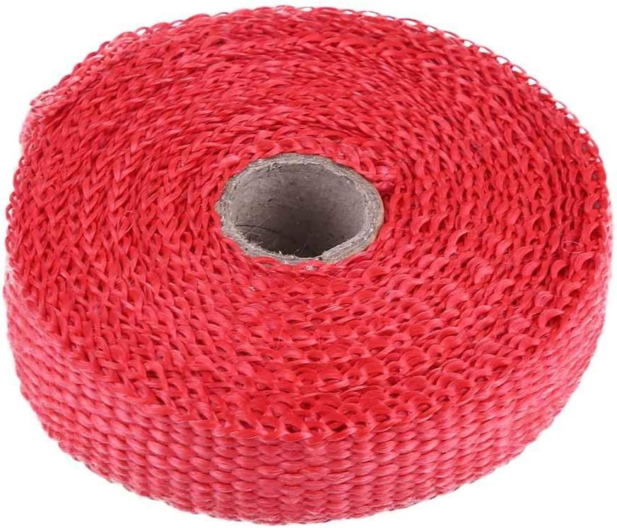 White Car Modification Heat Wrap,5m Car Insulation Tape Exhaust Heat Wrap with 4 Stainless Steel Cable Ties