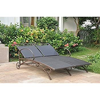 Amazoncom  Eucalyptus Double Chaise Lounge  Color Options - Double chaise lounge outdoor furniture