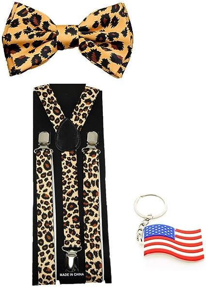 Made in USA New Tan Suspender Men//Junior Elastic Adjustable Y-Back Clip On