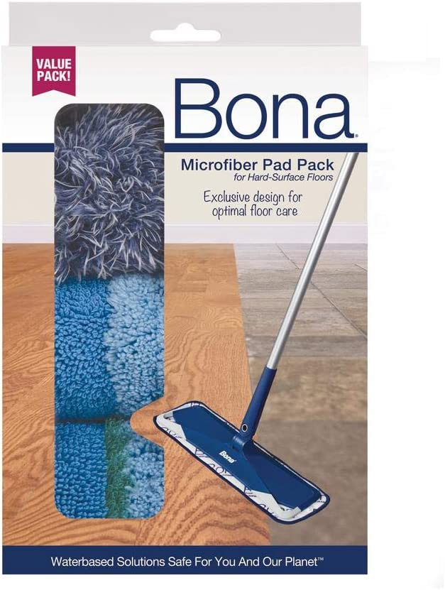 Bona Multi-Surface Floor Microfiber Cleaning Pads, 3 Pack