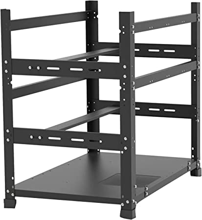 Assletes New Bitcoin Mining Rig Frame 3 Layers - Open Mining Frame for 12 GPU Mining Case Server Rack Motherboard Bracket ETH/ETC/ZEC Ether Accessory Tool 3 Layers