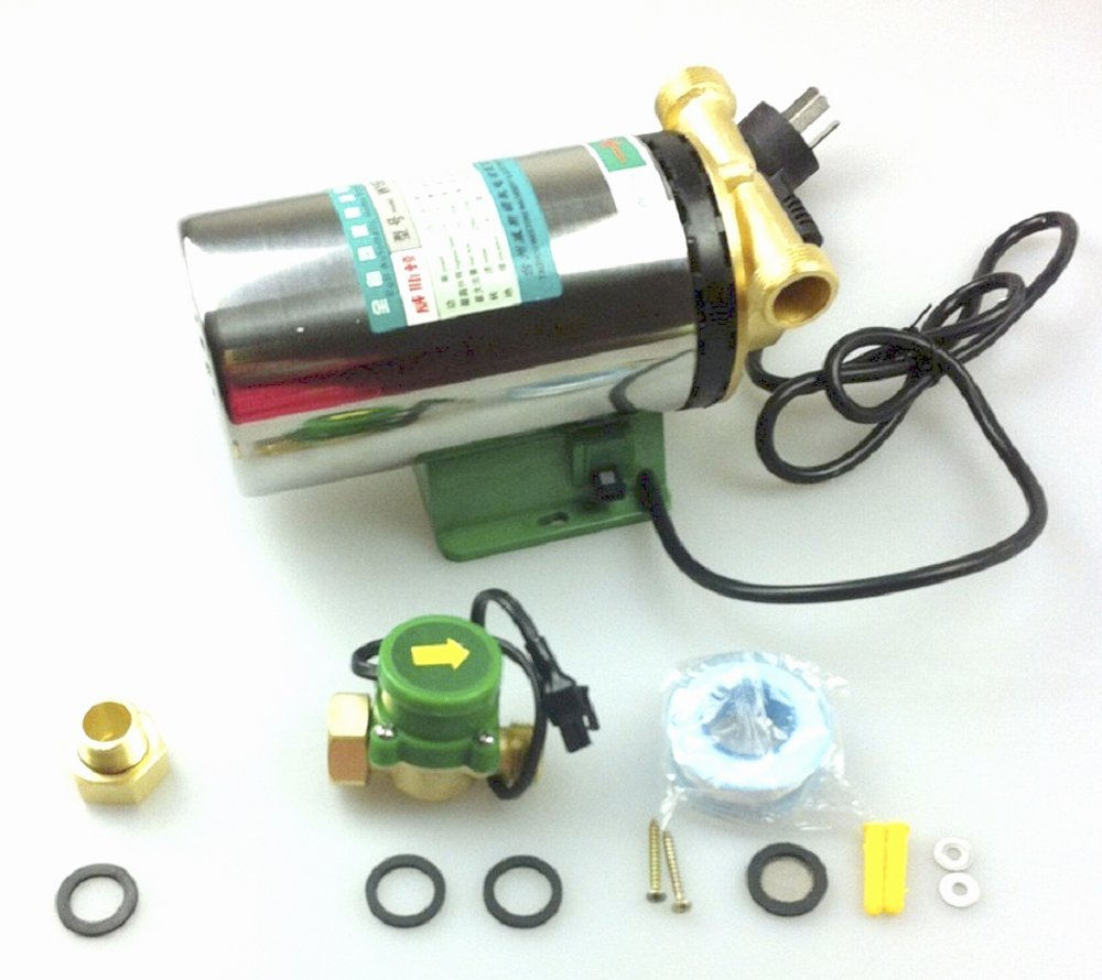HSH-Flo Whole House Water Pressure Booster Pump with Stainless Steel Housing and Flow Switch (W15G-15B 120W)