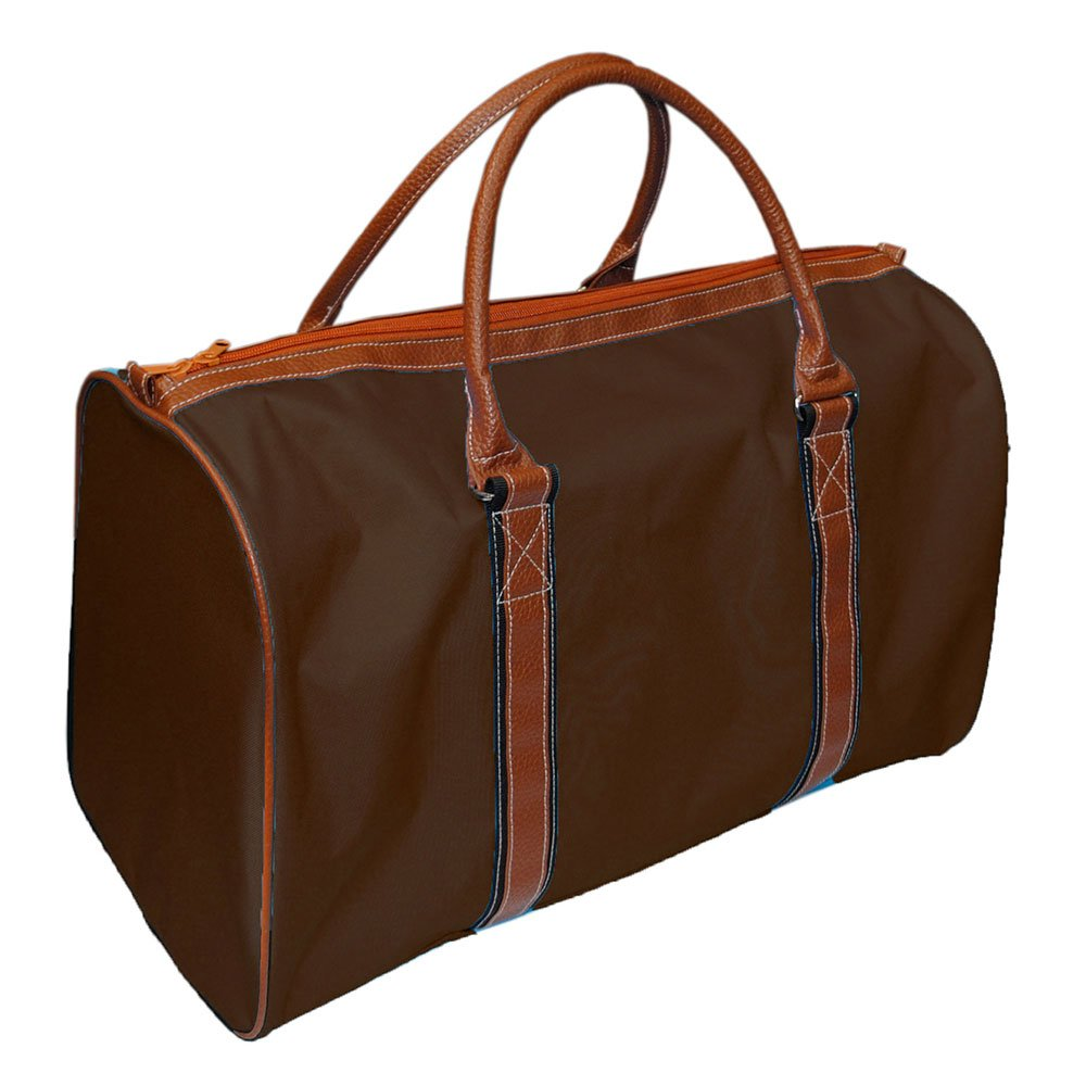 Mainstreet Collection Men's Canvas Travel Tote Overnight Duffle Bag Weekender (Brown)