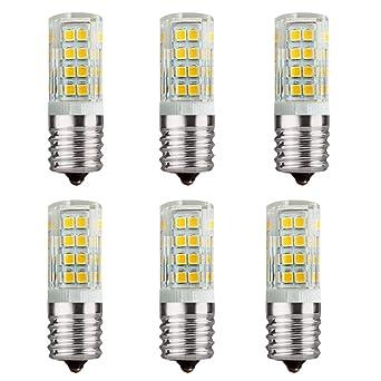 6 piezas E17 110 voltios 4 vatios LED horno microondas estufa ...