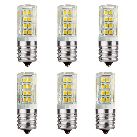 6 piezas E17 110 voltios 4 vatios LED horno microondas ...