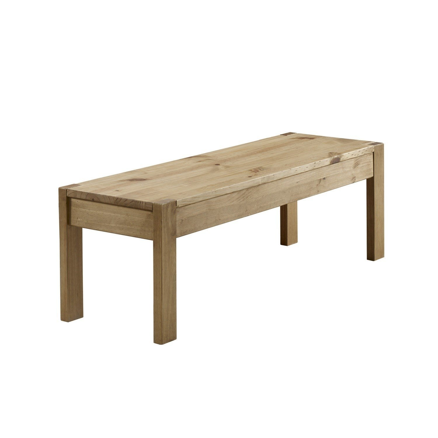 Emerson Solid Pine Rustic Dining Table Bench Amazoncouk Kitchen Home