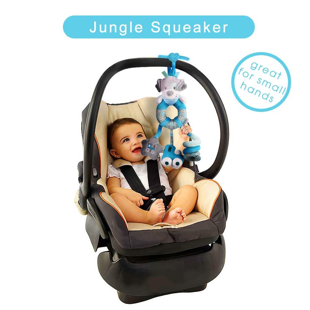 Baby Stroller Hanging Toy Toddler Pram Pushchair Car Seat Toys Blue Dog