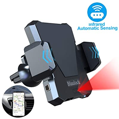 Air Vent Car Phone Mount Auto Clamping, Blaulock Auto-Sensing&Chip Control Car Phone Holder, Car Cradle Compatible with iPhone Xs XS Max XR X 8 8+ 7 7+ SE 6s 6+ 6 5s 4 Samsung Galaxy S10 S9 S8 & More: Home Improvement