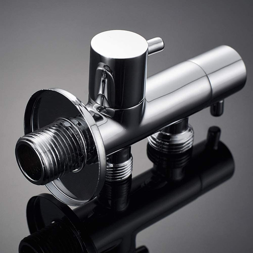 Wall Connection 1//2 Inch with Single Lever Chrome 1//2 Inch Outflow GRIFEMA COMPLENTO-G152 Wall Mounted Angle Valve//Diverter for Mixer Tap